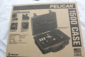 Pelican 1500 Watertight Hard Case with Foam Insert - Black #1500-000-110
