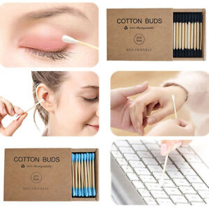 Disposable Double Head 200PCS/Box Cotton Swab Clean Sticks Bamboo Buds Tip