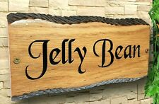 Personalized Oak Carved Wooden Home Sign  House Number Name Plaque Outdoor Plate