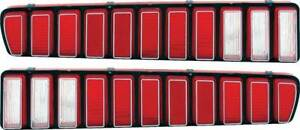 1973-74 Dodge Charger Tail Lamp Lenses With Silver accent