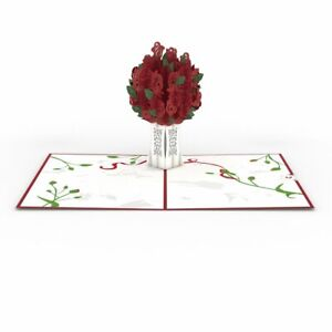 Lovepop - Red Rose Bouquet - 3D Pop-Up Greeting Card