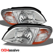 99-03 Ford Windstar  Replacement Chrome Clear Headlights Left + Right Headlamps