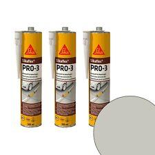 Dichtstoff für Bodenfugen Sikaflex PRO-3 Kieselgrau, 3 Kartuschen