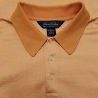 Brooks Brothers Polo Shirt - Double Mercerized Cotton, Performance Knit - LARGE