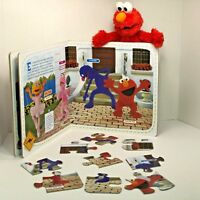 Sesame Street Elmo Puzzles Book To Help Your Toddler Learn Simple Spanish Words