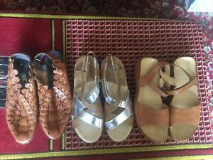 TWO PAIRS  OF SHOES UK SIZE 41 CLARKS AND  I''M SANDLES FREE REIKER SHOES