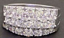 14K white gold exquisite 2.08CT VS1/G diamond cluster cocktail ring size 6.75