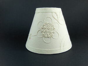 Country Waverly Candlewicking White Fabric Chandelier Lampshade Lamp Shade