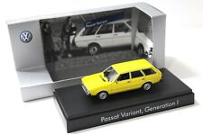 1:43 Minichamps VW Passat 1 Variant 1974 Yellow dealer New en Premium-modelcars