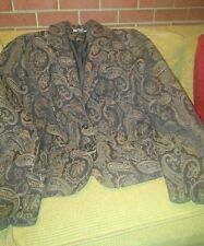 Embroidered blazer sz.L Victorian Tapestry brown multi woven Paisley Studio 1940