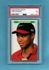 Very Rare 1999 Nickelodeon rookie Tiger Eldrick Woods PSA 5 FREE ship