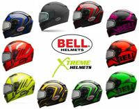 Bell Qualifier Snow Helmet Snowmobile Dual Electric Shield XS S M L XL 2XL 3XL