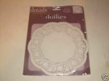 """4.5"""" Doilies Lot 90 Round White Paper Doilies Small Doiley envelopes Roses Vtg !"""
