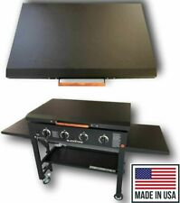 """Black Aluminum Lid Storage Cover fit 36"""" Blackstone Griddle Made in Usa"""