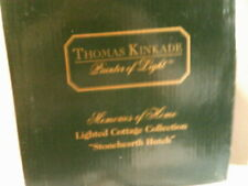 Thomas Kinkade Memories of Home Lighted cottage Stonehearh Hutch Nib- Free Ship