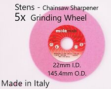 5 Chainsaw Sharpener 60grit Grinding Wheel Stens 22mm x 145mm for 3/8 .404 Chain