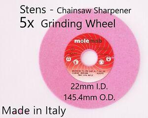 5 Chainsaw Sharpener 60grit Grinding Wheel Stens 22mm x 145mm for 3/8 .404 Chain