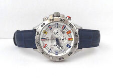 Nautica N16532G NST Chronograph Date Blue Leather Band Men's Watch