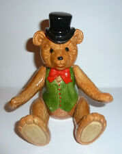 Ceramic Teddy Bear Music Box Schmid Gordon Fraser 1983 Plays Entertainer