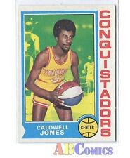 1974/75 Topps #187 Caldwell Jones San Diego Conquistadors Carte ABA Basketball