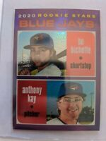 2020 Topps Heritage Toronto Blue Jays RC Bo Bichette/Anthony Kay Purple THC-52