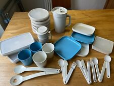Vintage Retro  Tupperware Job Lot Cups Plates Jug Containers Camping