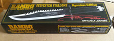 RAMBO FIRST BLOOD PART II SYLVESTER STALLONE SIGNATURE EDITION KNIFE #0736/10000