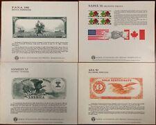 United States BEP B 79-82 Souvenir Cards 1985 Mint