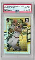2017-18 Donruss optic basketball Lebron James Silver Holo PSA 10