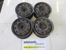 KIA CARNIVAL 2.9 D AUT 106KW (2003) RICAMBIO SET 4 CERCHI IN FERRO DA 15 POLLICI