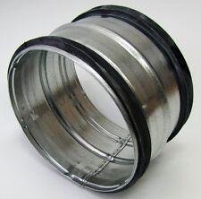Nippel für Wickelfalzrohr  NW80 bis 450 mm Lippendichtung Stahl verzinkt.