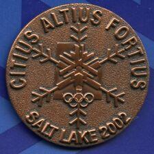 2002 Salt Lake City Winter Olympic Bronze Medal Motto Snowflake Logo Pin