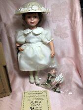 Boyds Bears My Best Friend Porcelain Doll - Morgan w/Flora - 1E