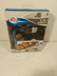 EA Sports 5 In 1 Gamer Kit Nintendo DS Case Skin Stylus Headphone Basketball NEW