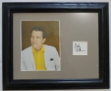 Andy Williams Vintage Signed Autograph Display Cut Signature Framed With Photo