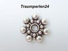 Daisy Spacer 8 mm silber 50 Stück Zwischenperlen Blume Stern Metallperlen