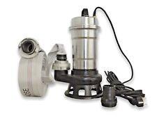 Schmutzwasserpumpe Tauchpumpen Nickel mit Schneidmesser +30m 2'' Schlauch G81421