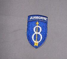 1959-60s, 8th Infantry-Airborne Division, Small Attached Tab