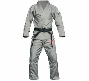 New Fuji Lightweight Light Summer Weight Mens Brazilian Gi Jiu-Jitsu BJJ - Gray