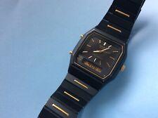 Vintage Seiko Black&Gold Ana-Digi Quartz Watch_All Original_Excellent Condition
