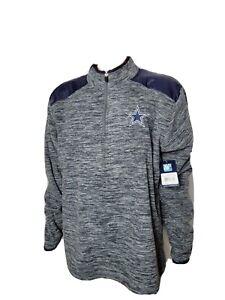Dallas Cowboys Authentic Hensley Quarter Zip NWT New Mens Large Football NFL