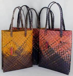 Long Shopper Straw Bag