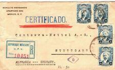 MEXICO Cover Registered *CERTIFICATO* GERMANY Stuttgart c1917 FC191