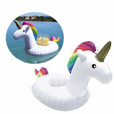 Inflatable Unicorn Water Float Bottle Cup Holder Drink Beverage Boat Pool Party