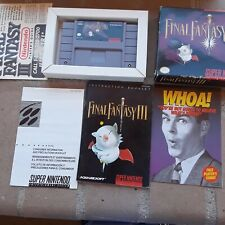 All original Final Fantasy III 3 ( Super Nintendo SNES ) Complete no map