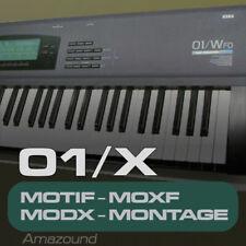 KORG 01W SAMPLES for YAMAHA MOTIF ES XS XF MOXF MODX MONTAGE KEYMAPS READY PLAY