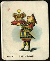 Tobacco Card, Carreras, ALICE IN WONDERLAND, 1930, Large, The Crown, #45