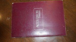 1980's Catalog Accutron swiss made