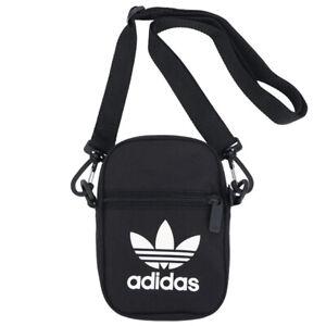 Adidas Originals Trefoil Festival Bags Messenger Shoulder Cross Bag Black EI7411