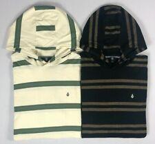Men's Volcom Shaneo Hooded Striped Long Sleeve Shirt
